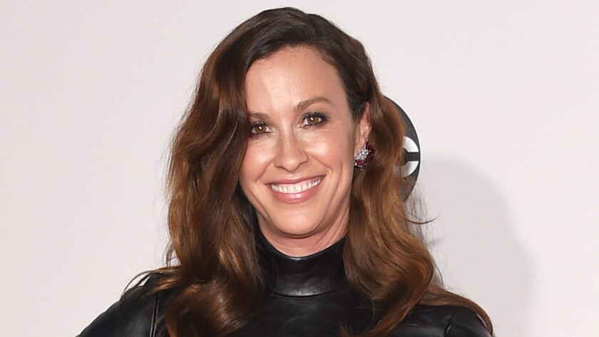 Alanis Morissette is seen at the American Music Awards in November 2015.