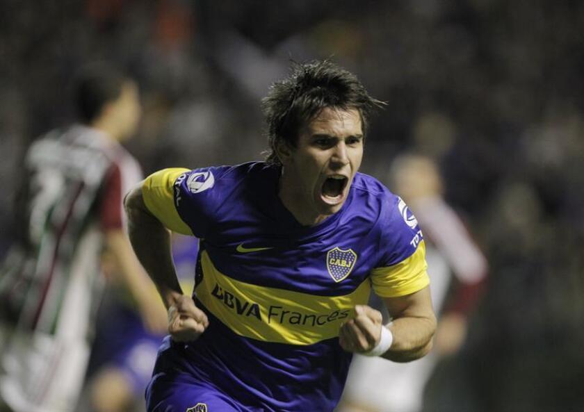 En la imagen, el centrocampista argentino Pablo Mouche. EFE/Archivo