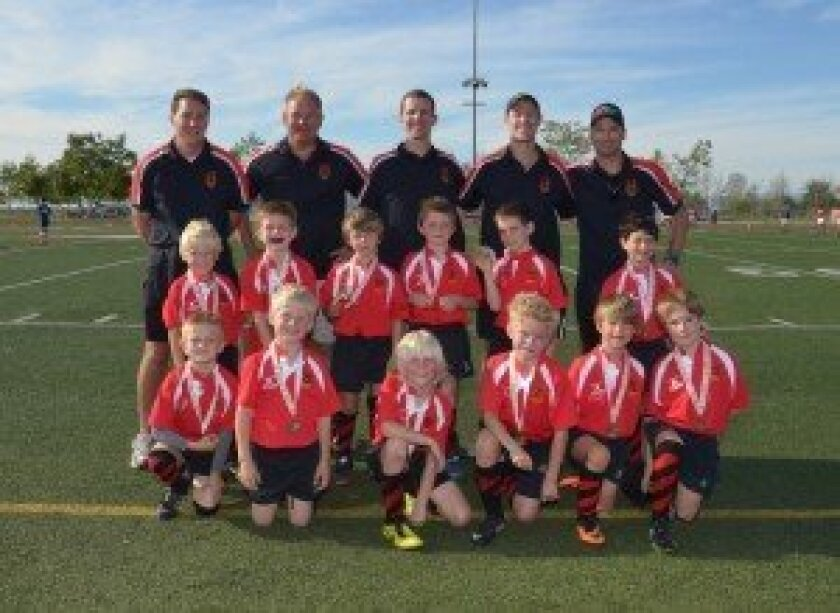 BackBay San Diego Youth Mustangs Rugby Club U8 winners. Photo/Rugby Action Photo