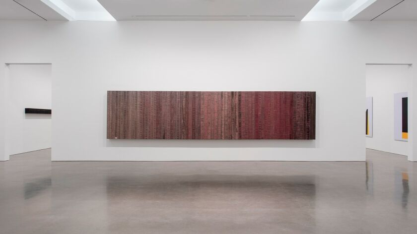 """""""Dirty Red,"""" 2016, by Theaster Gates, an assemblage made from decommissioned firehouses."""