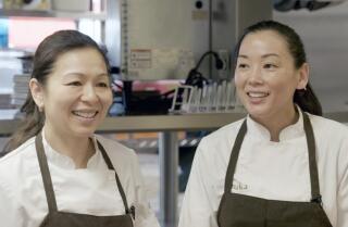 Michelin-starred n/naka chefs make onigiri, Japanese comfort food