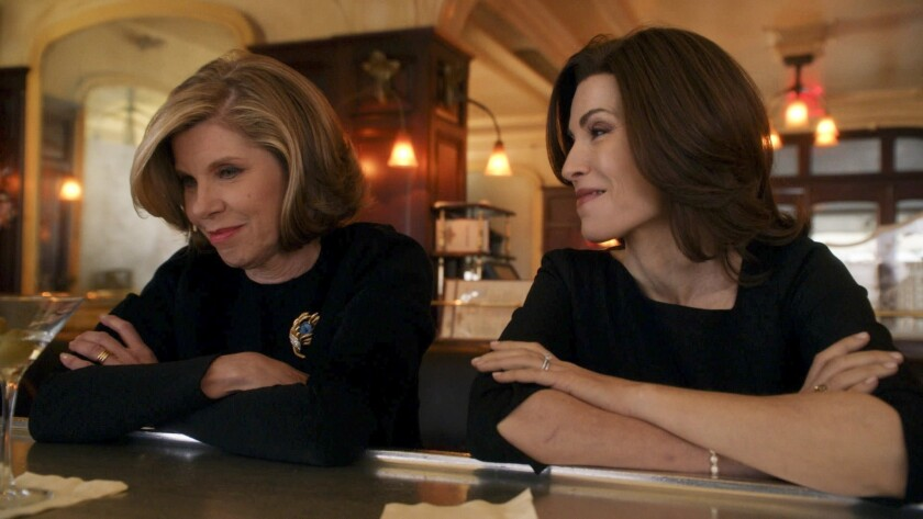 "Christine Baranski, left, as Diane Lockhart on ""The Good Wife,"" with Julianna Margulies as Alicia Florrick."