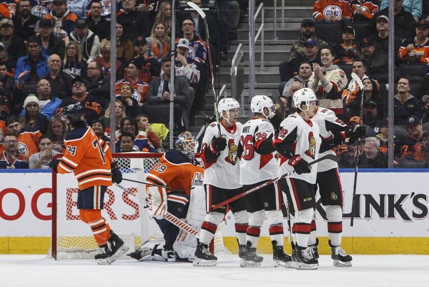 Senators Oilers Hockey