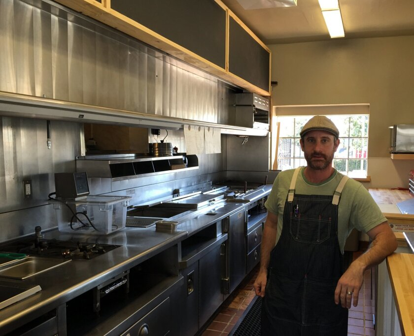 Chef Jesse Paul in the new kitchen at The Wooden Spoon, which opens Feb. 24.