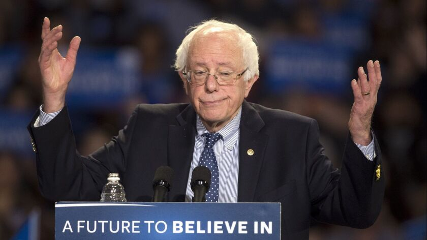 Sen. Bernie Sanders at a campaign rally in 2016.