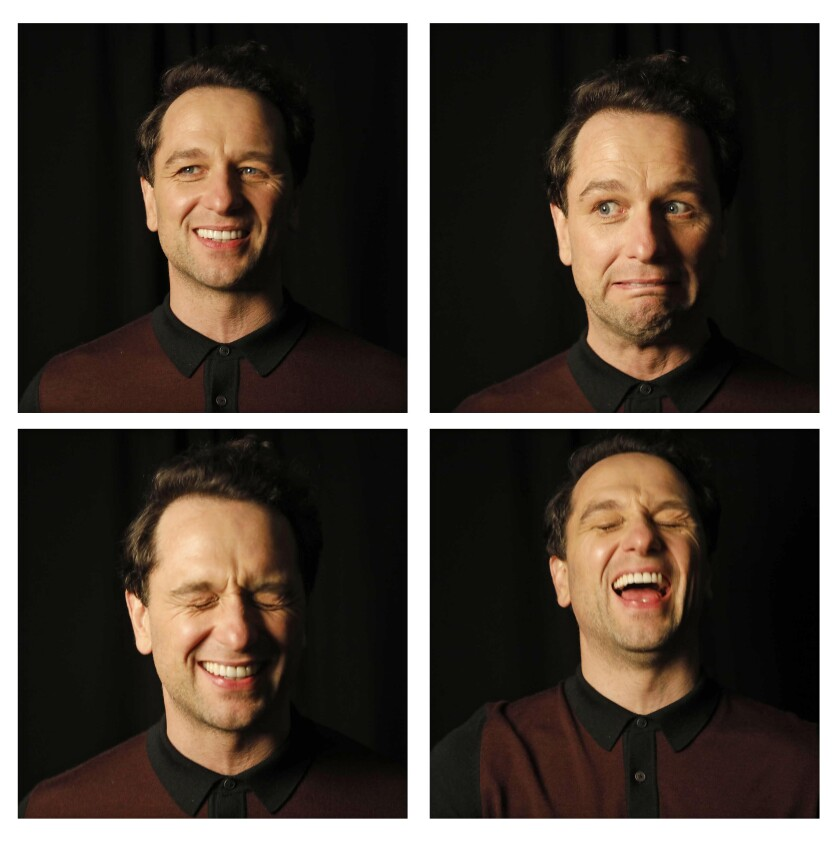 """""""Beautiful Day in the Neighborhood"""" actor Matthew Rhys has fun with his facial expressions during a photo shoot."""
