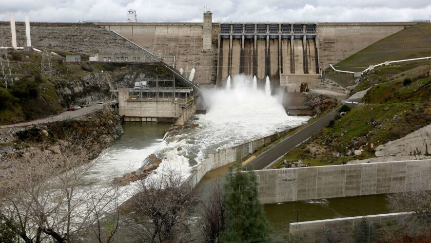Folsom Lake continues to rise as the Folsom Dam releases water into the American River.