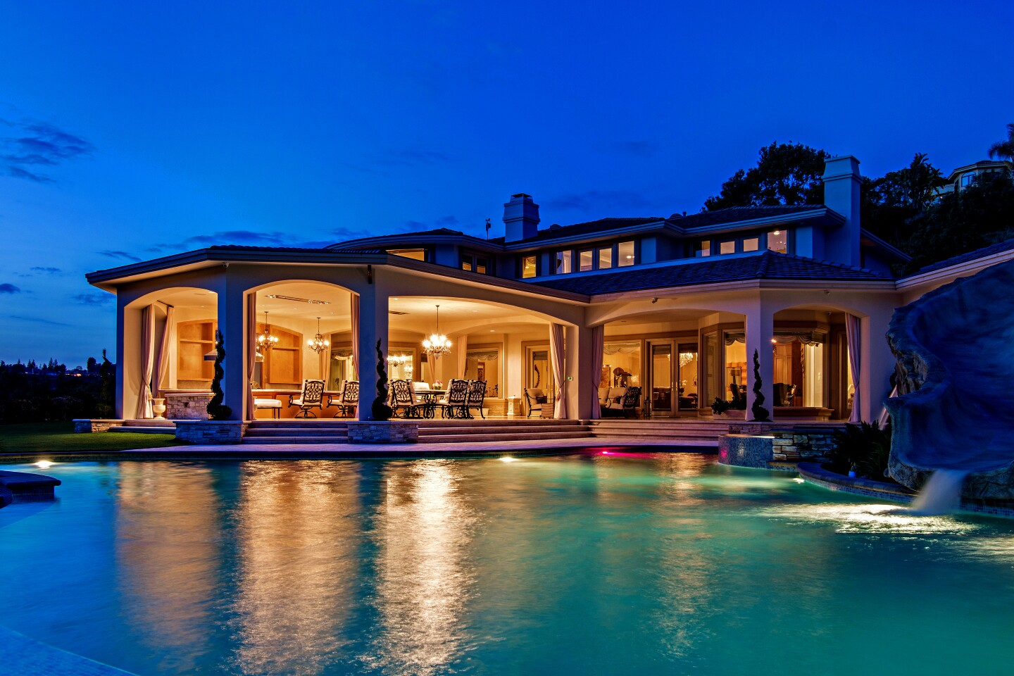 Lakers star Anthony Davis is shooting for $7.995 million for his Westlake Village home of two years. The Mediterranean-inspired estate sits behind gates on more than two acres with a resort-style swimming pool and an indoor basketball gym. The roughly 16,000-square-foot home opens to a two-story foyer with a sweeping staircase.