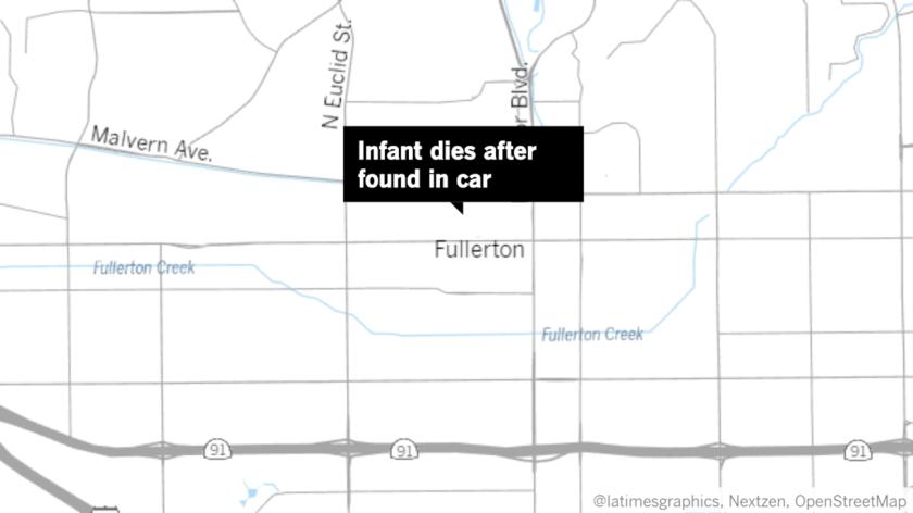 Map showing Fullerton