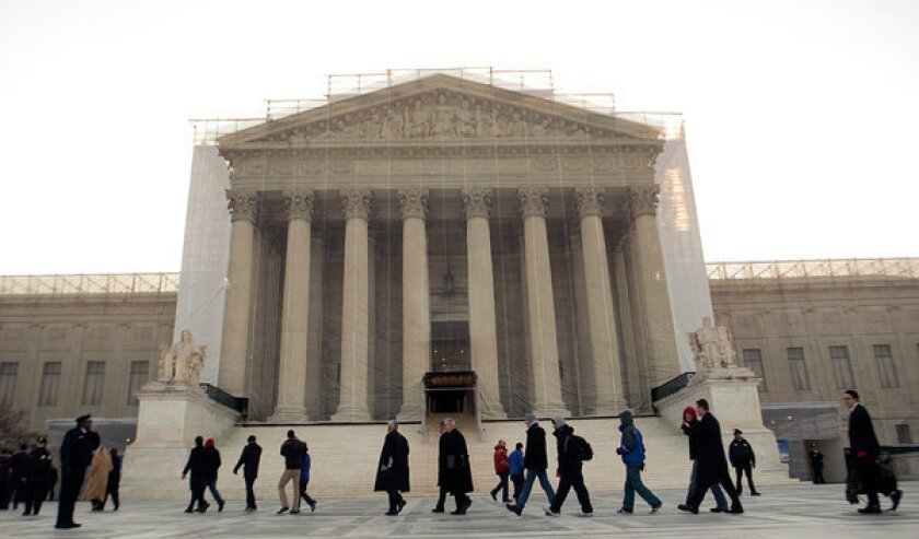 The Supreme Court on Monday ruled against a call to adjust the way voting districts are composed.