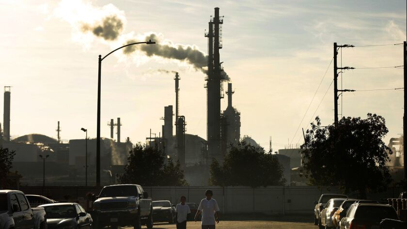 The Phillips 66 refinery in the Wilmington neighborhood of Los Angeles.