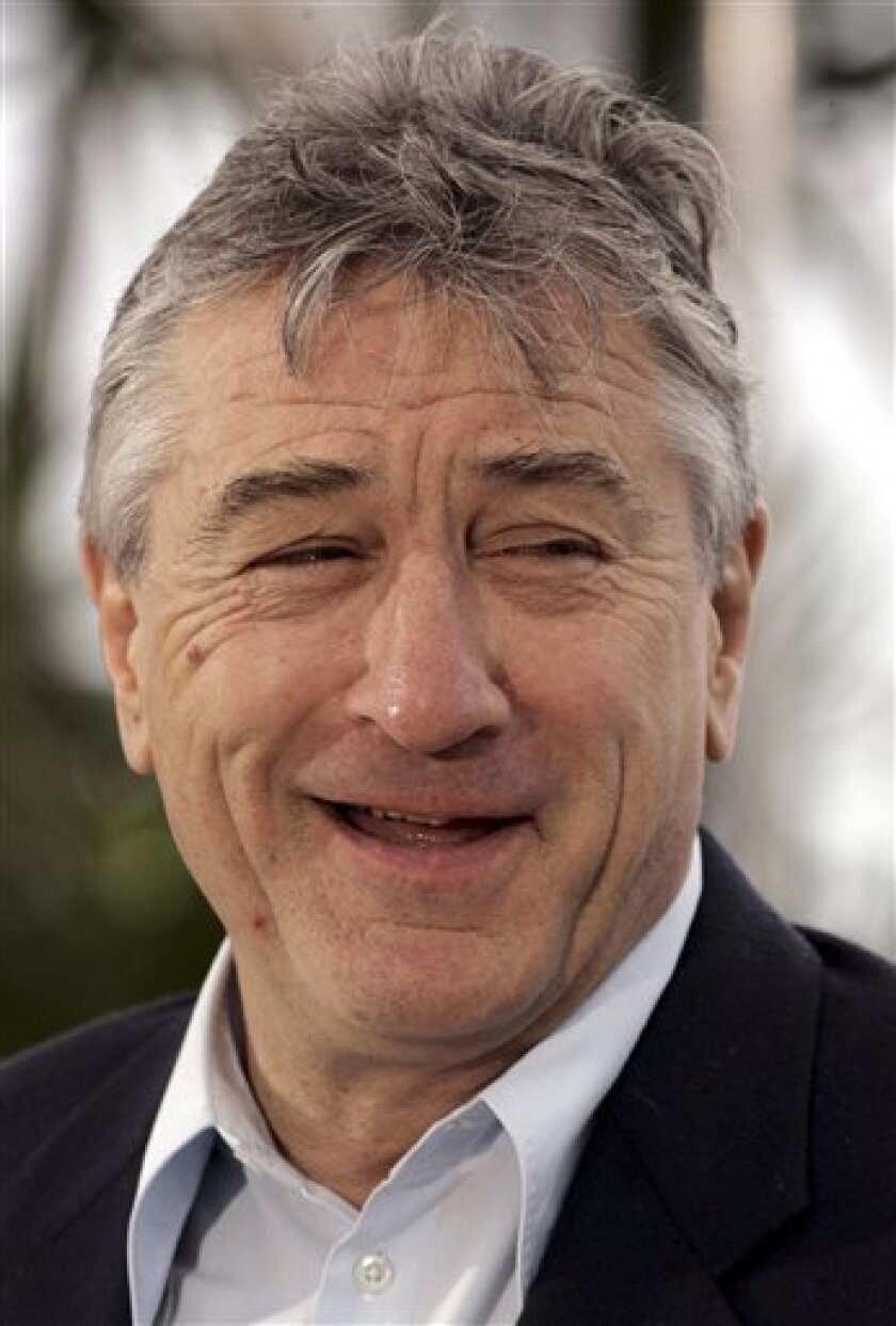 """FILE - In this May 25, 2008 file photo American actor Robert De Niro poses at the photo call for the film """"What Just Happened?"""" during the 61st International film festival in Cannes, southern France. De Niro will chair the jury of the 2011 Cannes Film Festival that will run through May 11 to 22, the organizers announced Thursday Jan. 6, 2011. (AP Photo/Carlo Allegri, File)"""