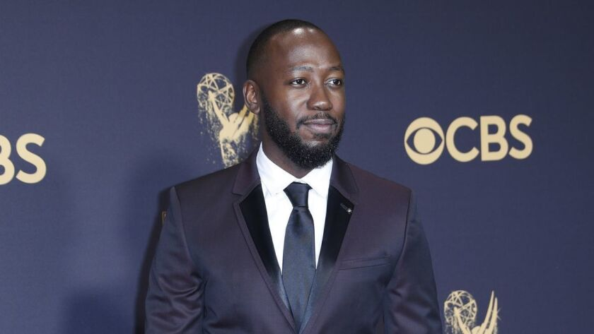 LOS ANGELES, CA., September 17, 2017: Lamorne Morris arriving at the 69th Emmy Awards at the Micro