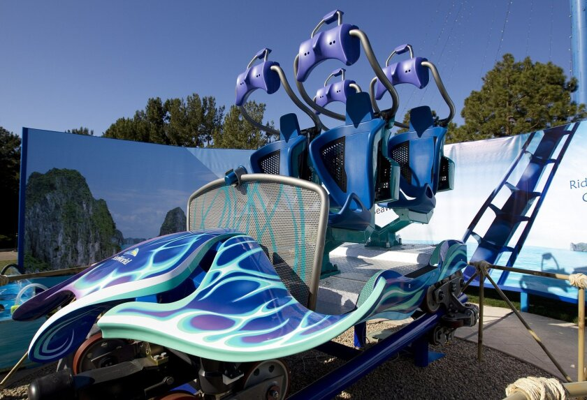 The new roller coaster cars delivered to SeaWorld will be part of a five-car train meant to resemble a manta ray.