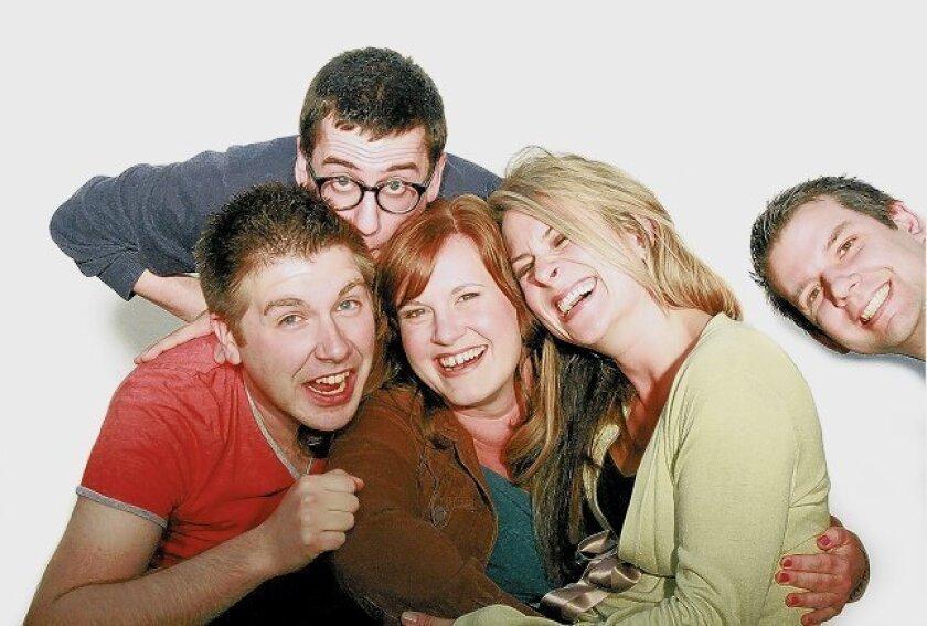 "The {team} behind Diversonary Theatre's ""{title of show}"": Tony Houck (left), Tom Zohar, Heather Paton, Karson St. John and Tim McKnight. Barron Henzel"