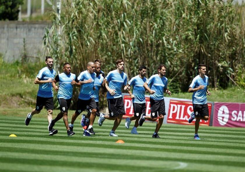 Uruguay's national team assit to training sesión before a match against Ecuador to qualify for the 2018 World Cup of Russia. Montevideo, Uruguay. Nov. 11, 2016. EPA-EFE/Raul Martinez