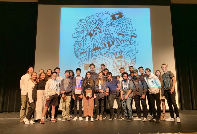 CCA Envision Cinema Conservatory: (Back row, l-r): Andrew Norbeck (guest artist), Marley Aguirre, Sofia Anderson, Timothy Zhang, Colin Bae, Noah Hecht, Reed Martin, Max Miesen, Riley Scott, Rohan Khehar, Jacob Kau, Ava Sofia Settoon and Luca Csathy (Front row, l-r): Campbell Moore, Melanie An, Danny Applebaum, Max Mereminsky, Kevin Garcia, Sanam Azai, Vivi Husted, Gabe Yung, Tom Stiel, Jake Berman and Cinema Conservatory Coordinator Brad Kester