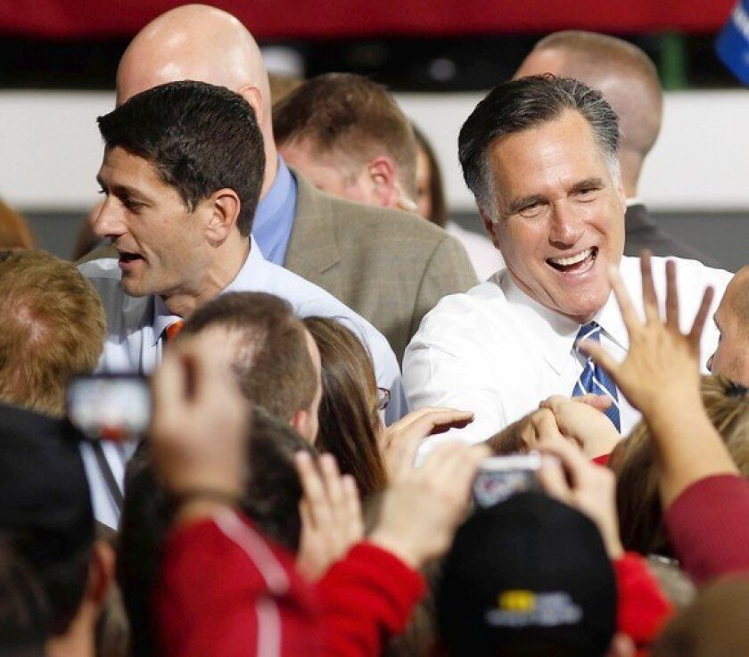 As Romney edges toward moderation, Ryan takes a lower profile