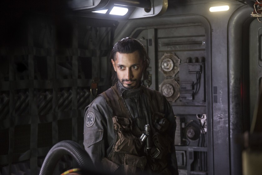 """Riz Ahmed plays Bodhi Rook in a scene from """"Rogue One: A Star Wars Story."""""""