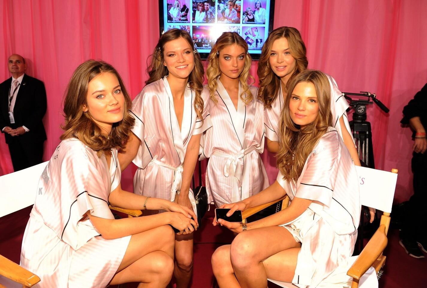 Backstage at the 2013 Victoria's Secret Fashion Show