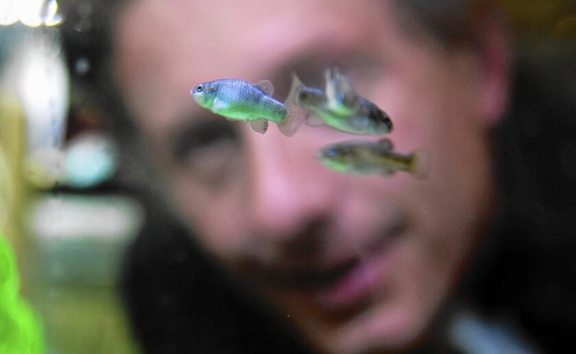 Aquaculturist Olin Feurbacher