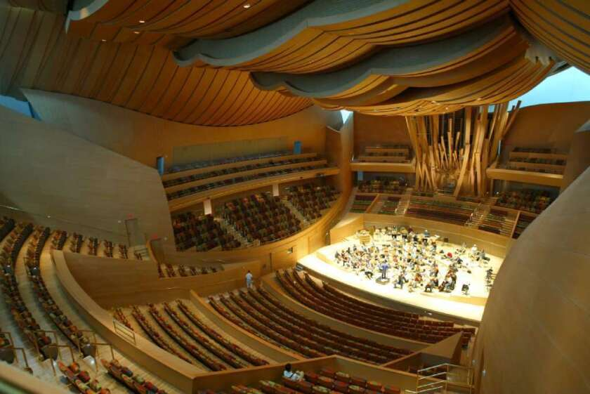Walt Disney Concert Hall, home of the Los Angeles Philharmonic. The L.A. Phil has received a $575,000 grant to attract new audiences.