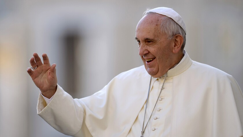 Pope Francis in a 2015 photo.