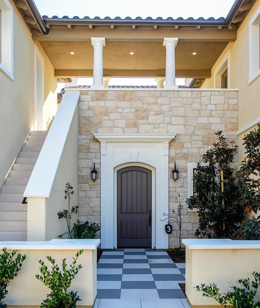Front entrance of a home at The Estates San Elijo Hills