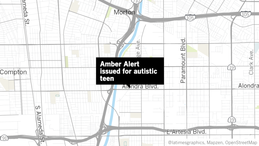 An Amber Alert was issued for an autistic teen in Paramount.