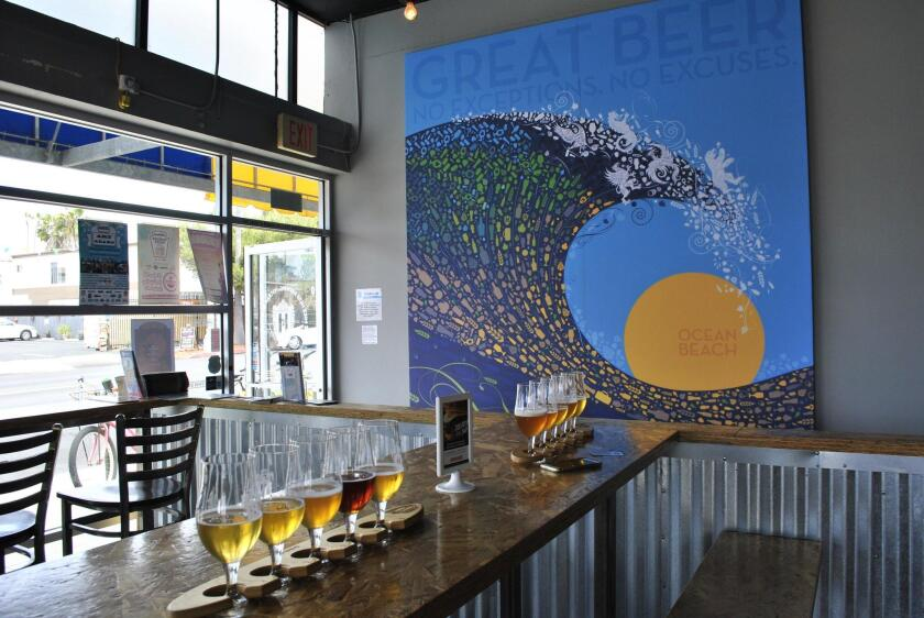 Art by Court Patton incorporates the Mike Hess Brewing motto: Great beer, no exceptions, no excuses.