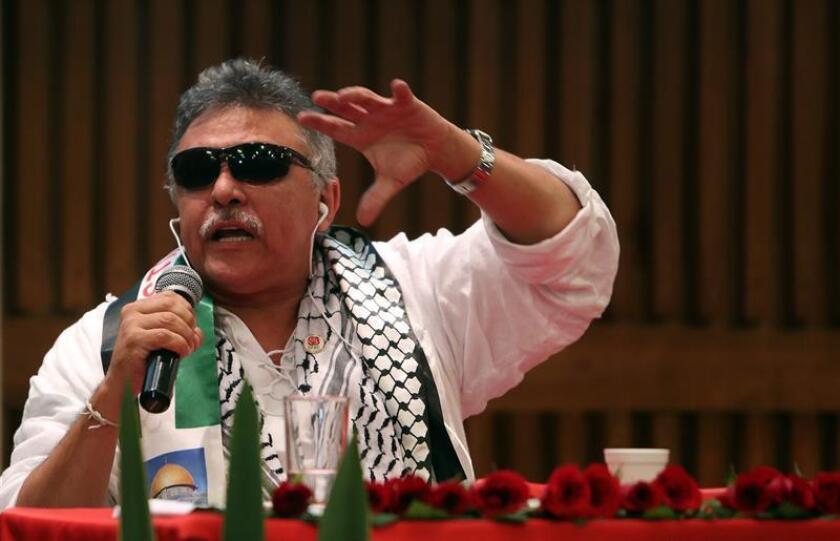La fiscalía federal para el distrito sur en Nueva York presentó hoy cargos contra Jesús Santrich, uno de los líderes de la antigua guerrilla FARC, y otros tres capturados en Colombia por conspirar e intentar exportar cocaína a EE.UU. EFE/ARCHIVO