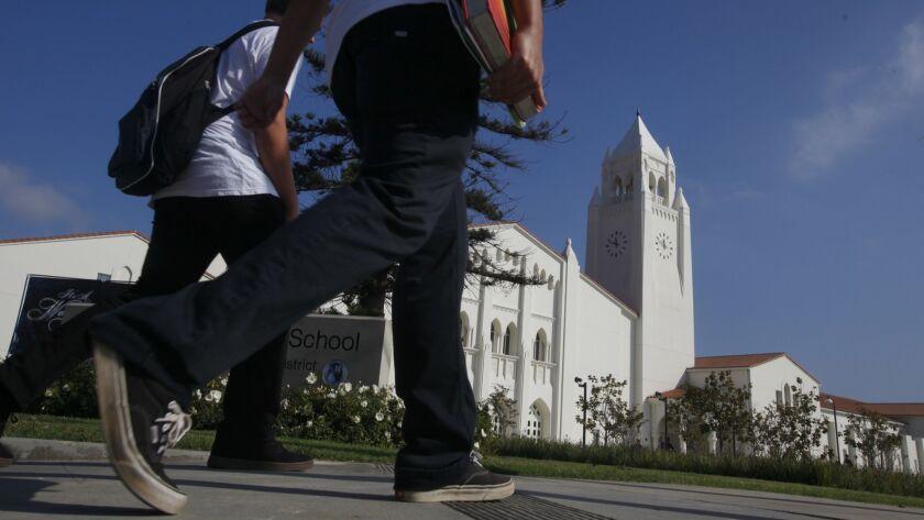 The campus of Newport Harbor High School in Newport Beach, Calif. on Nov. 28, 2012.