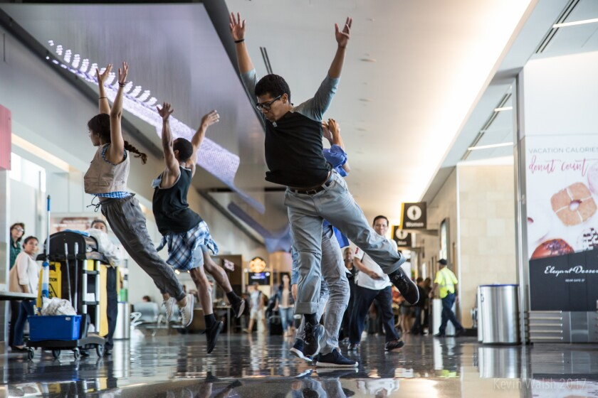 The transcenDANCE Youth Arts Project was part of the San Diego International Airport's Performing Arts Residency Program.