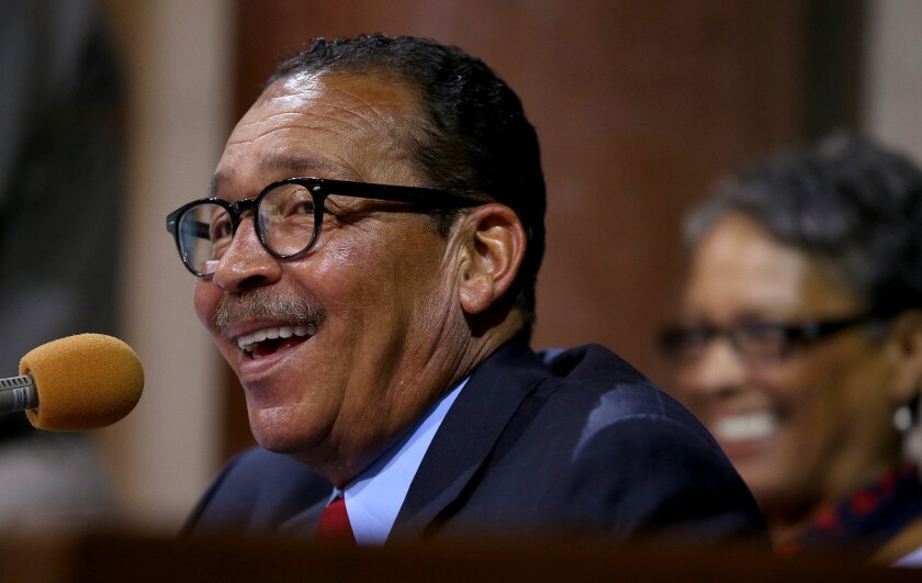 Los Angeles City Councilman Herb Wesson in 2013. He said he's backing Kamala Harris for Senate.