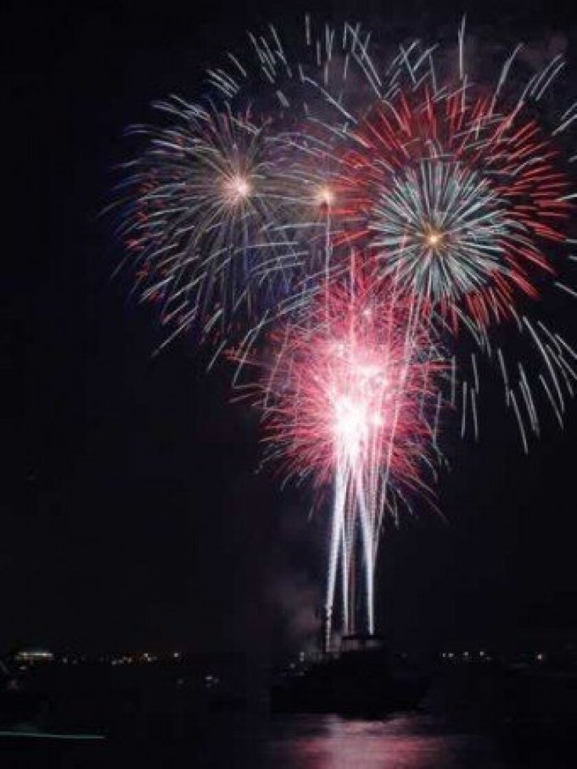 Christmas Parade organizers and other La Jolla businesses and organizations, including members of the La Jolla Town Council, are working to save this year's cancelled fireworks display. File.