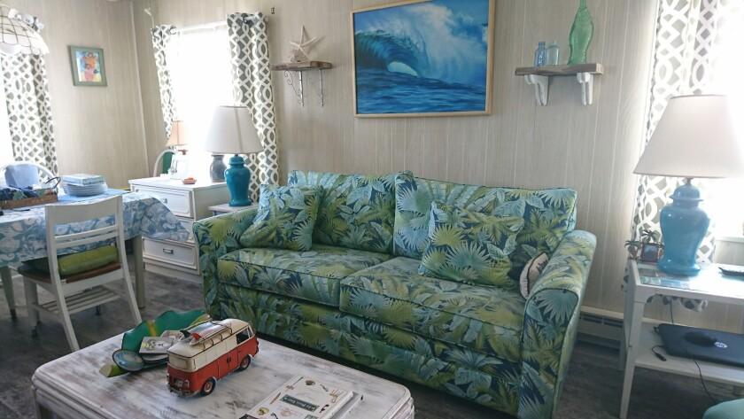 Gemma Hoskins' living room in Ocean City, Maryland.