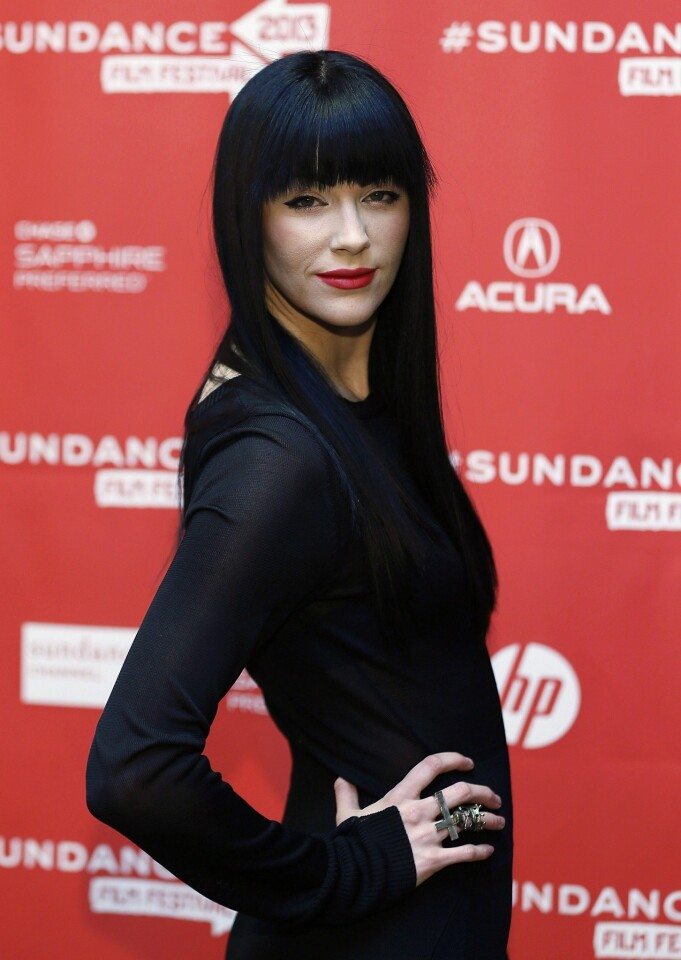 """Audrey Napoleon arrives for the premiere of """"The Necessary Death of Charlie Countryman."""""""