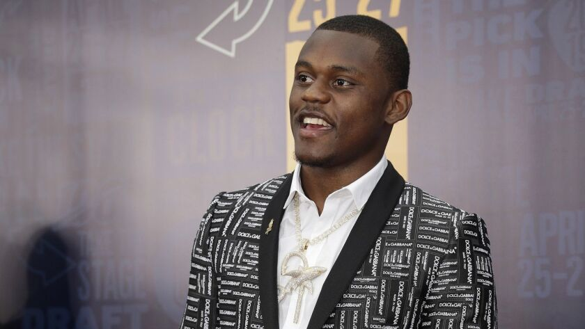 Georgia defensive back DeAndre Baker walks the red carpet ahead of the first round at the NFL footba