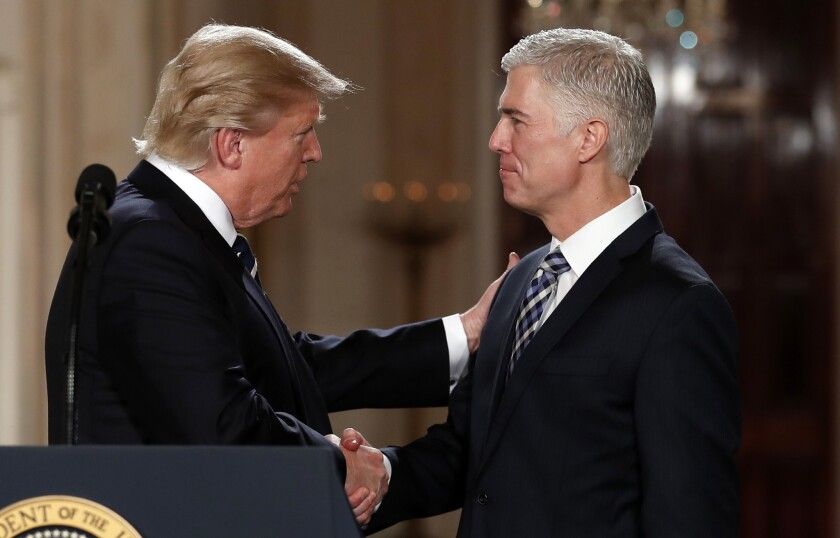Column: Justice Gorsuch calls for 'civility,' always a device for shutting down free speech