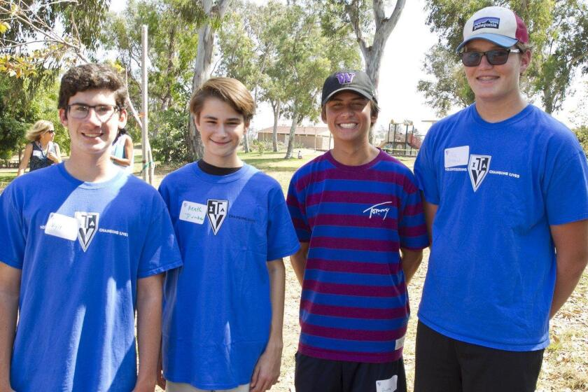 Teen Volunteers in Action SD Chapter 1 Fall Kick-off event