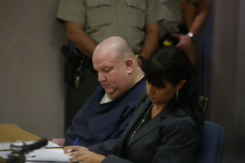 Anthony Edward Simoneau, 46, with his attorney Deputy Public Defender Marissa Remiker (right) pleaded guilty to voluntary manslaughter in the 2007 death of his wife, Fumiko Ogawa Simoneau. He was sentenced to 11 years in prison.