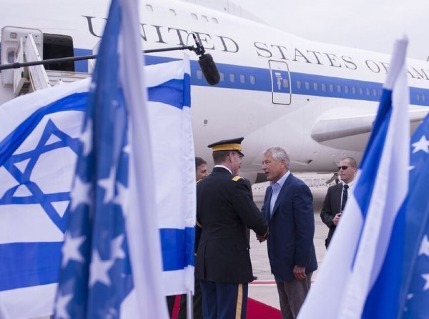 Hagel vows solidarity with Israel at start of Mideast trip
