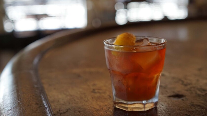 Bars around Los Angeles are celebrating Repeal Day with $1 cocktails Saturday. Pictured is an Old Fashioned from Oldfield's, one of the participating bars.