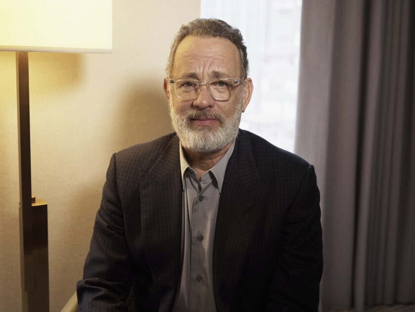 Tom Hanks posa para un retrato en Nueva York.
