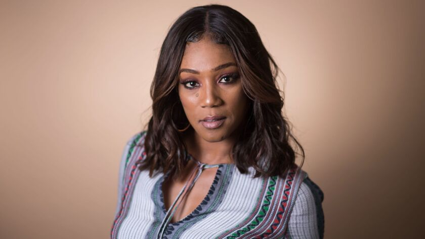 LOS ANGELES-CA-JUNE 25, 2017: Comedian and actress Tiffany Haddish is photographed at home in Los An