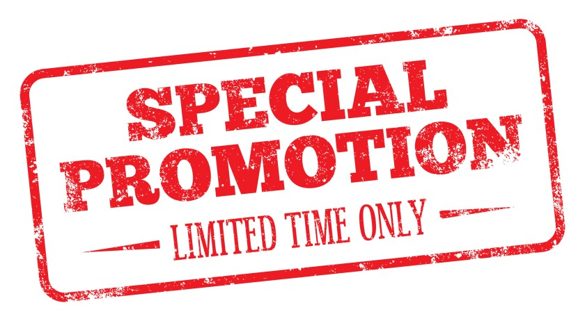 special promotion limited time only