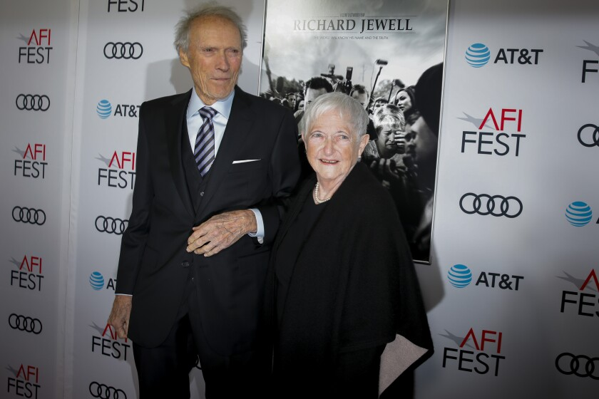 Clint Eastwood with Bobi Jewell at AFI Fest