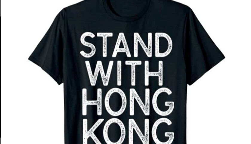 Lakers fan Sun Lared designed this T-shirt in support of Houston Rockets general manager Daryl Morey.