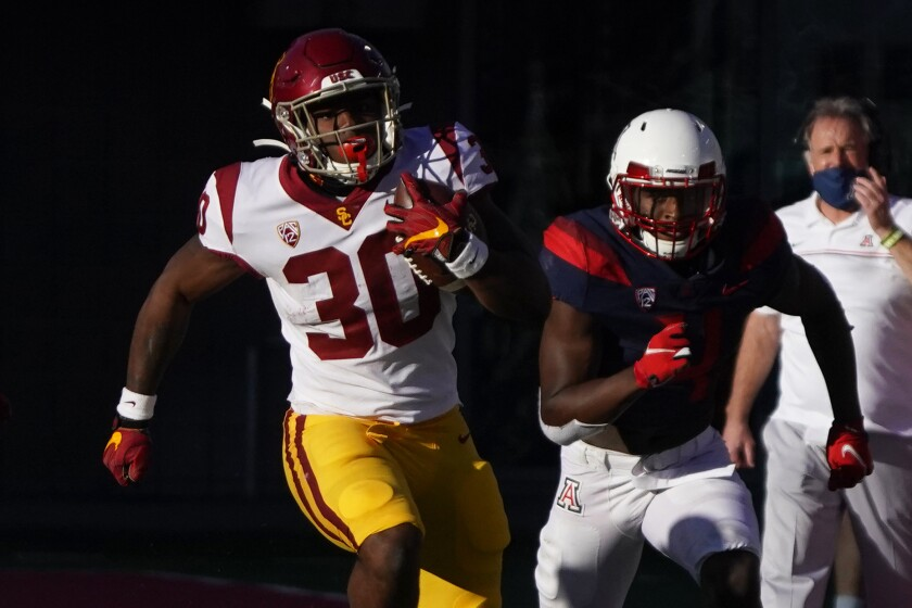 Southern California running back Markese Stepp (30) in the second half.