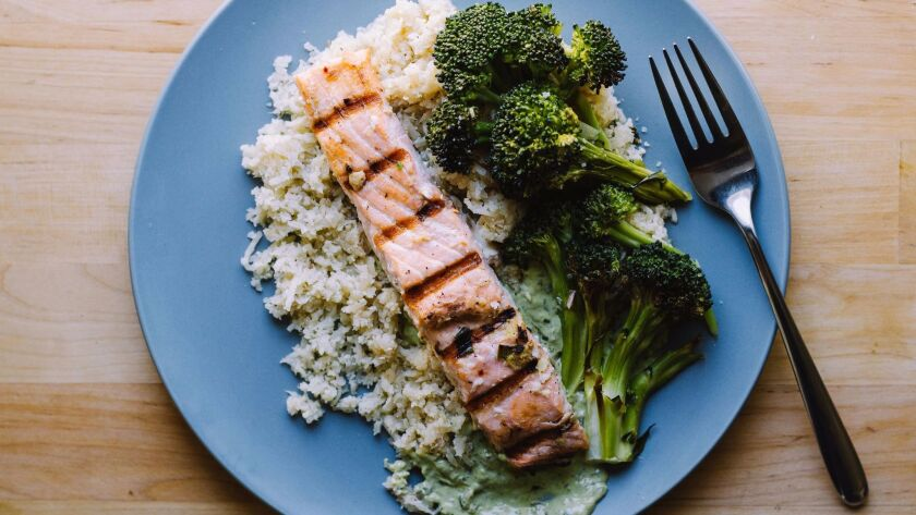 Grilled salmon, by Territory.